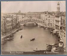 Salviati. Italie, Venezia, Ponte Rialto e Fondamente  Vintage albumen print.