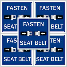 5 Adesivi Sticker digiuno SEAT BELT cintura di sicurezza cintura allacciare le cinture crea