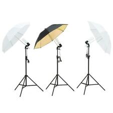 Professional Photography Lighting Kit 3 Umbrella Equipment Gear Umbrella PHOTOS
