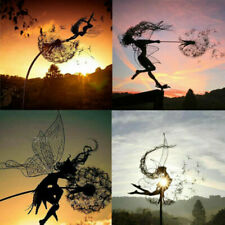 Fairies And Dandelions Dance Together Garden Stakes Decor Yard Art Lawn Ornament
