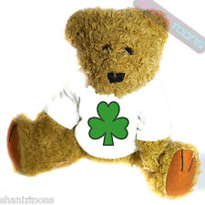 Lucky Shamrock Irish Ireland Mascot Novelty Gift Teddy Bear