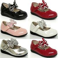 GIRLS WEDDING SHOES BABIES INFANTS PARTY BRIDESMAID CHRISTENING BABY SHOES SIZE