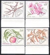 MONACO 1982 precancels/Pesca/Fiori/Fruit/ALBERI/PIANTE/NATURA/stagioni 4 V n39428