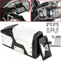 Edelstahl 4.2L Werkzeugkasten für BMW R1200/R1250GS 04-19 Linke Seitenhalterung