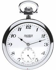 Open Face Gents Pocket Watch with 17 Jewelled Mechanical Movement - Luxury Gift