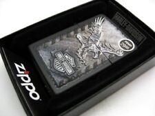 ZIPPO Full Size Black Matte HARLEY-DAVIDSON Logo & Eagle Windproof Lighter 28485