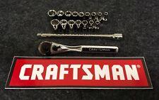 "NEW Craftsman 18 Piece 1/4"" Ratchet & 6 Point Standard Metric Socket Set SAE MM"