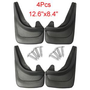4pcs ABS Soft Plastic Mudguards Car Front & Rear Fender Mud Flaps Splash Guards