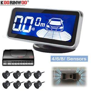 4/8 Parking Sensor LED Car Auto Backup Reverse Rear Radar System Alert Alarm Kit