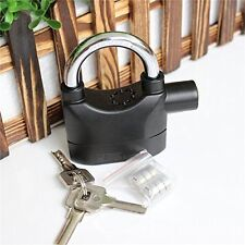Siren Alarm Lock 110Db AntiTheft Security System Door Motor Bike Bicycle padlock