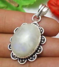 Rainbow Moonstone Gemstone Pendant 925 Silver Plated Jewelry U214-A105