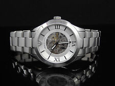 Emporio Armani AR4647 Meccanico Automatic Silver Stainless Steel Mens Watch $497