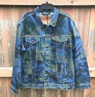 Levi's Mens Size Large Jacket Premium Quality Jean Denim Camo Trucker 723340412