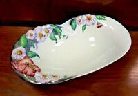 Pretty Carlton Ware Long Footed Bowl - Poppies & Daisy Pattern Shape 2054 VGC