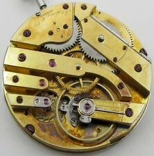 Ad. Lang wolf teeth 17 jewels Watch Movement for parts HC & pin set OD 40.5 mm
