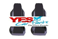 HONDA ACCORD COUPE 98-01 PREMIUM FABRIC SEAT COVERS WHITE PIPING 1+1