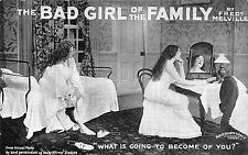 POSTCARD   THEATRE    The BAD GIRL of the FAMILY  Fred  Melville   What is...