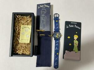Le Petit Prince The Little Prince MONTRES Quartz Navy Watch w / Wooden Box