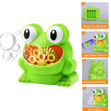 Baby Bathtub Soap Machine Big Frogs Automatic Bubble Maker Blower Toy Music