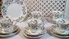 Fine bone China trio teaset crown staffs gorgeous wedding afternoon tea