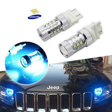 2x Ice Cold Blue LED Bulbs Fit Jeep Ford Dodge GMC Daytime Running Lights DRL