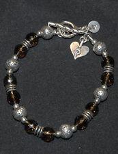 SILPADA - B1477 - Smoky Quartz and Sterling Silver Bead Bracelet