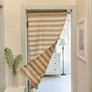 Stripe Door Curtion Kitchen Bathroom Bedroom Doorway Half Half Curtains Decor