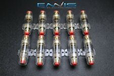 10 PACK AGU FUSE HOLDER 4 6 8 10 GAUGE IN LINE GLASS FUSES AWG WIRE GOLD