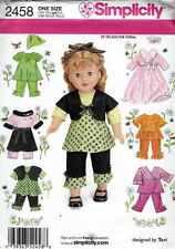 "DOLL CLOTHING Pattern 2458 for 18 "" DOLLS Sundress SKIRT Top SHRUG Scarf PANTS"