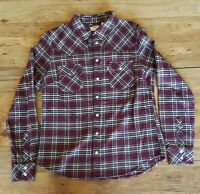 Levis Womens Plaid Button Down Shirt Size Small Flannel Long Sleeve