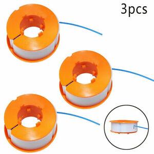 3 x Trimmerspule & Schnur für Bosch ART23 Combitrim Comfort & Easytrim Strimmer