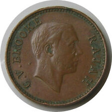 elf Sarawak 1/2 Cent 1933 H   Charles Brooke Rajah World War II