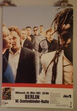 UB40 1991 Original Concert tour poster