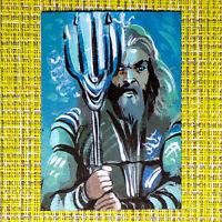 Aquaman original painting 1/1 signed sketch card