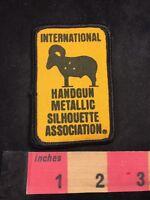 Vtg International Handgun Metallic Silhouette Association Patch - Hand Gun 80XC