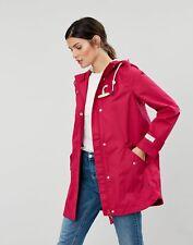 Joules Womens Coast Mid Waterproof Coat - Berry - 16