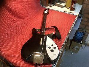 Xbox 360 The Beatles Rock Band John Lennon Wireless Rickenbacker Guitar