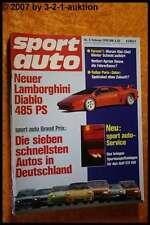 Sport Auto 2/90 Lamborghini Diablo BMW M5 Honda S 800