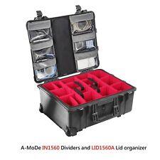 Lid Organizer Padded Divider Set fits pelican 1560 1569 (no case)
