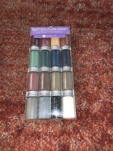Hampton Embossing Powder Set 16 Colors Metal Pearls Metallic