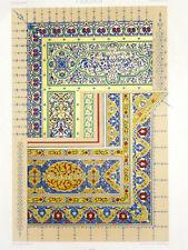 PERSE PERSAN RACINET LITHOGRAPHIE Art Decoratif Ornements Manuscrits 1870