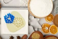 Christmas Snowflake Cookie Cutters -8cm- Xmas Biscuit Dough Icing Shape -type A