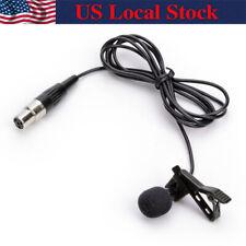 Pro Lavalier Speech Microphone For Shure Wireless Body-Pack mini 4pin XLR TA4F