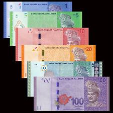 Malaysia set 6 PCS, 1 5 10 20 50 100 Ringgit, 2012, P-50 51 52 53 54 55, lot UNC