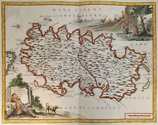 GIAMBATTISTA ALBRIZZI CARTA GEOGRAFICA ISOLA DI SARDEGNA SARDINIA 1740 MAPPA