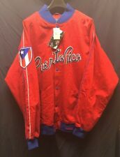 Stall & Dean Red Puerto Rico Baseball Jacket Brand New With Tags Size 4XL