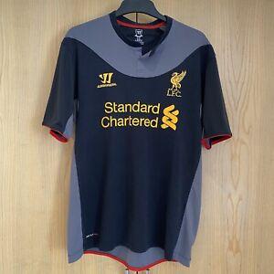 Liverpool FC Black Mens Size L Black & Grey Top Warrior Standard Chartered 96