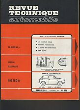 (44B)REVUE TECHNIQUE AUTOMOBILE HONDA N 360 - N 600 - N 600 GT