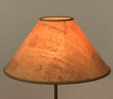 Extravaganter runder  Lampenschirm aus Kork 30 cm Naturmaterial Tischlampe e27