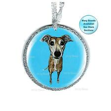 Brindle Greyhound Ornament Dog Remembrance Christmas Tree Ornament